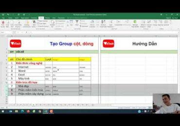 Cách cuộn dòng trong excel 2007   Tạo nhóm (Group) cột dòng trong excel   VnTech