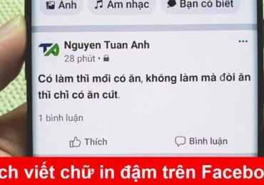 Cách đăng ghi chú trên facebook | Cách viết chữ in đậm, in nghiêng trên Facebook không cần cài phần mềm